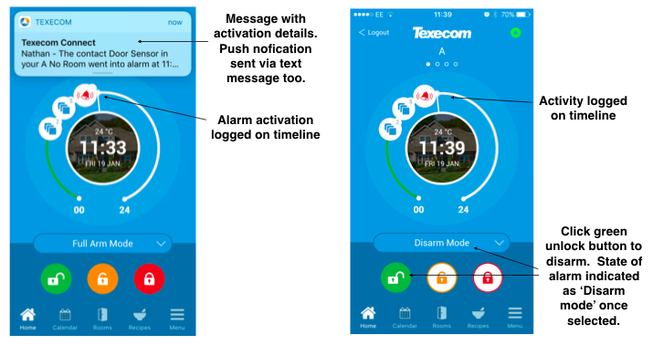 How to unset / disarm your Texecom smart alarm