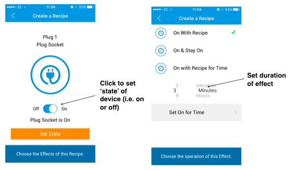 Texecom app recipe set-up