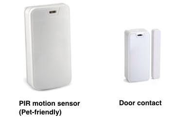 Compact alarm sensors