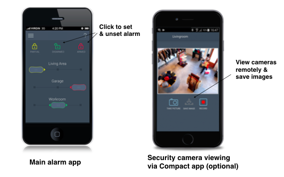 AMCO compact alarm app